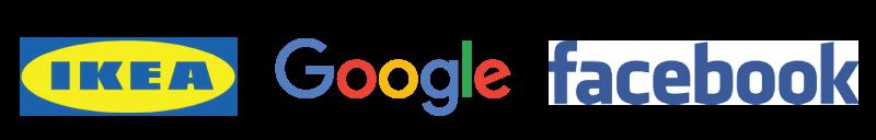 google facebook ikea logos