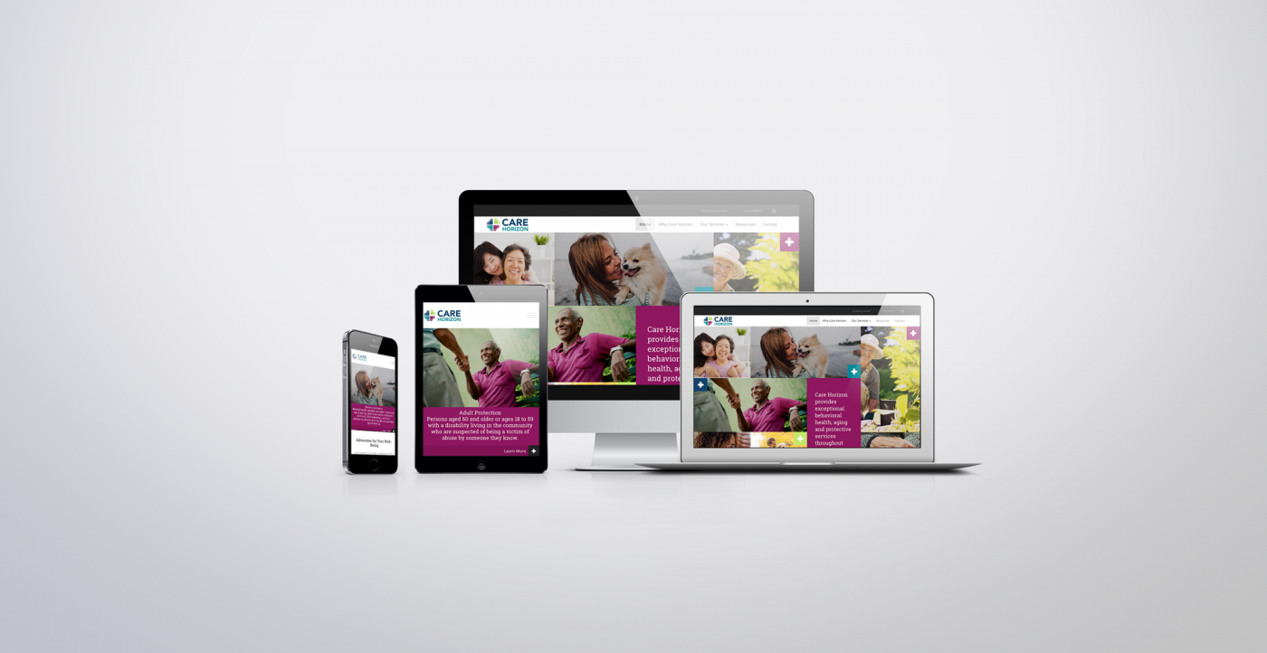 care horizon website design