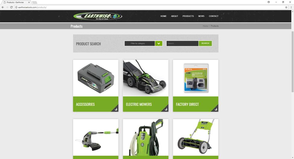 earthwise website design